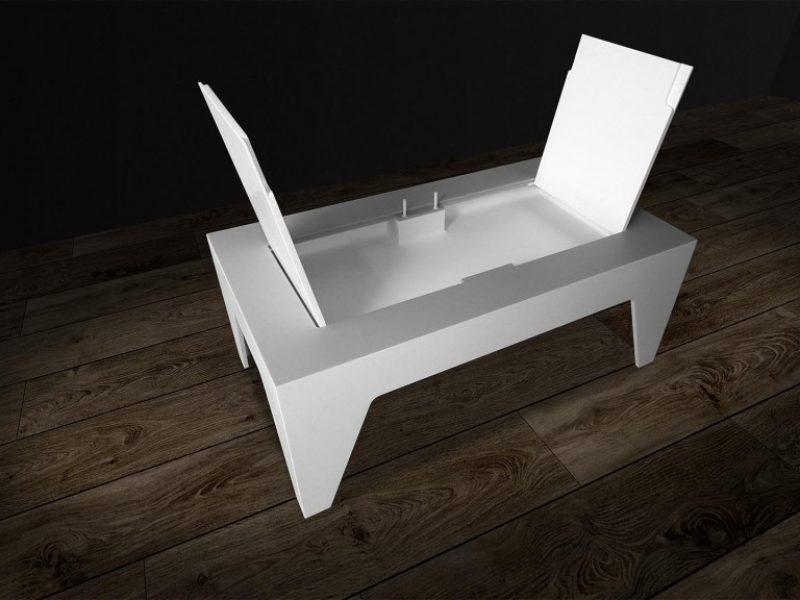 tavolo sala corian