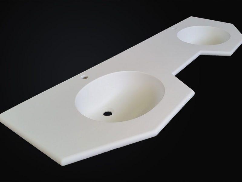 ripiano lavabo corian